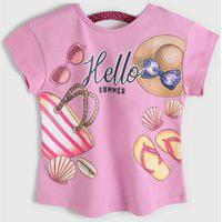 Blusa Kyly Infantil Hello Rosa
