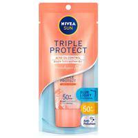Protetor Facial Nivea Sun Triple Protect Antiacne Fps50 Com 40Ml 40Ml