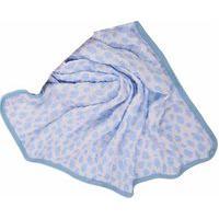 Manta Soft Estampada 85Cm X 1M Alvinha Ref.5898 / 5899 / 5900 - Minasrey-Azul
