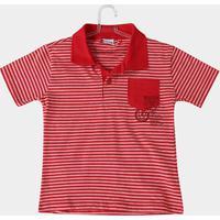 Camisa Polo Infantil Fakini Kids Listrada Bolso Masculina - Masculino