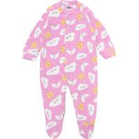 Pijama Tip Top Longo Menina Estampa Rosa