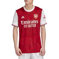 Camisa Masculina Adidas Arsenal I 20/21 Vermelho/Branco - P