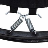 Kit 10 Molas Mini Cama Elástica Jump Profissional Trampolim - Unissex-Prata