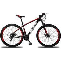 Bicicleta Aro 29 Ksw Xlt 24V Câmbios Shimano Tx-800 Freio A Disco Mecânico Com Suspensão - Unissex