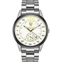 Relógio Tevise 8378-003 Masculino Automático Pulseira De Aço - Branco