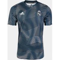 Camisa Real Madrid Pré-Jogo 19/20 Adidas Masculina - Masculino-Verde Escuro+Branco