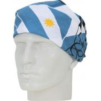 Bandana Oxer Argentina Com 01 Faixa - Unissex - Azul/Branco