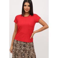 Blusa Texturizada Com Bolso- Vermelha- Milioremiliore