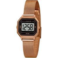 Relógio Lince Feminino Classic Digital - Feminino-Dourado