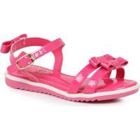 Sandália Rasteira Infantil Kidy Lacinhos Pink