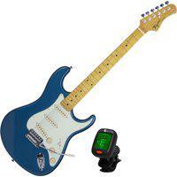 Guitarra Stratocaster Woodstock Tagima Tg530 Maple Azul + Afinador Nucleo