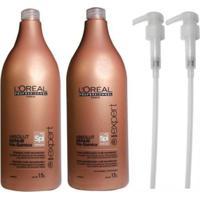 Kit Shampoo Condicionador L'Oréal Absolut Repair Pós Química (1,5L) E Válvulas Pump