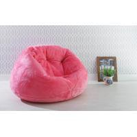 Puff Para Quarto Grande Cozy - Cor Pink - 120X110X70Cm