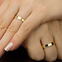 Aliança De Ouro Semi Abaulada Escovada Com Frisos E Brilhantes - As0951