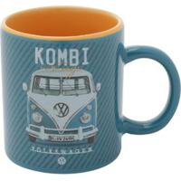Mini Caneca Porcelana Vw Kombi Classic Azul 140 Ml
