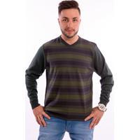 Suéter G'Dom Frente Listrado Roxo E Verde