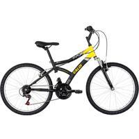 Bicicleta Aro 24 Max Front Preta E Amarela - Caloi
