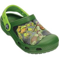 Clog Tartarugas Ninjasâ® - Verde & Verde Limã£Ocrocs