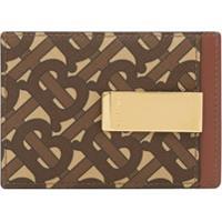 Burberry Porta-Cartões Com Estampa Monogramada - Marrom