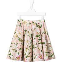 Dolce & Gabbana Kids Saia Floral Com Pregas - Rosa