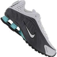 Tênis Nike Shox R4 - Masculino - Preto/Azul Cla