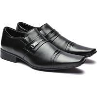 Sapato Social Jota Pe Pelica Detalhe Frisos Masculino - Masculino-Preto