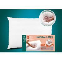 Travesseiro Natural Látex Alto Capa 100% Algodão 200 Fios 50X70Cm Duoflex