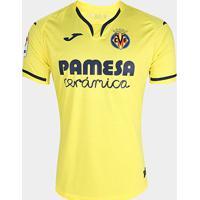 Camisa Villarreal Home 19/20 S/Nº Torcedor Joma Masculina - Masculino