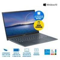Notebook Asus Zenbook 14 Ux425Ea-Bm319T Intel Core I5 1135G7 8Gb 256Gb Ssd W10 14 Ips Cinza Escuro
