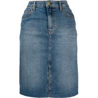 Tommy Jeans Saia Jeans Midi - Azul