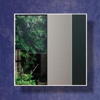 Espelho Quadrado 100% Mdf Es5 30 Cm Of White - Dalla Costa