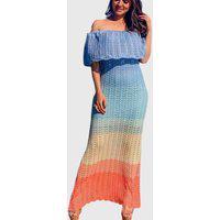 Vestido Longo De Tricô Ana Julia Tomara Que Caia Sereia Azul