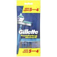Aparelho De Barbear Descartável Gillette Prestobarba Ultragrip 2 Com 5 Unidades 5 Unidades