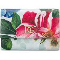Dolce & Gabbana Floral Print Compact Wallet - Rosa
