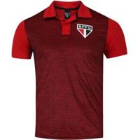 Camiseta São Paulo Polo Mescla Spr Masculina - Masculino