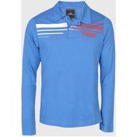 Camisa Polo Hd Hawaiian Dreams Reta Logo Azul