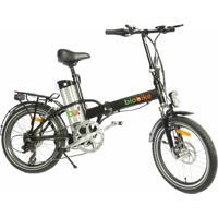 Bicicleta Elétrica Biobike, Quadro Em Alumínio, Modelo Js 12-Preta