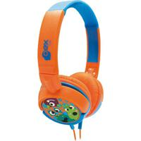 Headphone Boo!- Laranja & Azul- 20X17X6Cm- Plugunewex