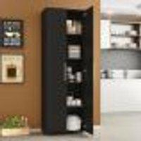 Armário Para Cozinha Multiuso Curitiba Com 2 Portas - Preto