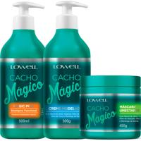 Lowell Cacho Mágico Shampoo Creme Modelador Máscara