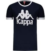 Camiseta Kappa Authentic Due Due - Masculino-Azul
