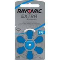 Bateria Para Aparelho Auditivo Rayovac Extra Advanced Tamanho 675 Com 6 Unidades