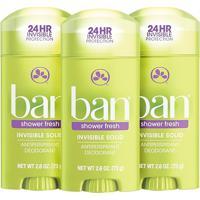Ban Kit Desodorante Antitranspirante Sólido 73G Trio - Shower Fresh