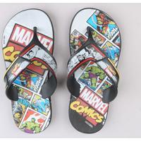 Chinelo Infantil Marvel Comics Preto
