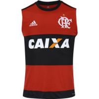 4e13a2f340 Camiseta Regata Do Flamengo I 2017 Adidas Com Patrocínio - Masculina -  Preto Vermelho