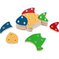 Jogo Educativo- Troque E Encaixe As Cores Peixe - Carlu