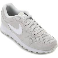Tênis Nike Md Runner 2 Suede Masculino - Masculino-Prata+Branco