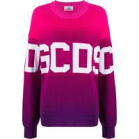 Gcds Suéter Oversized Com Logo - Rosa