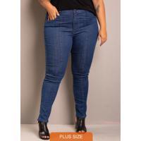 Calça Jeans Feminina Skinny Azul