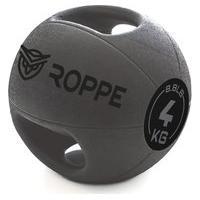 Medicine Ball Gripped 4Kg Cinza E Preto - Roppe .